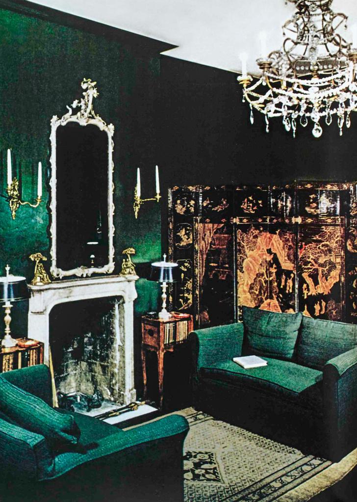 Гостиная в нью-йоркской квартире Билли Болдуина, 1946 год.