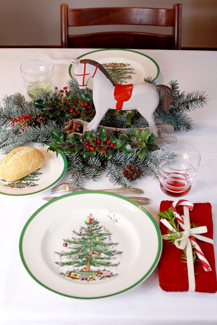 4 варианта новогодней сервировки фото [8]