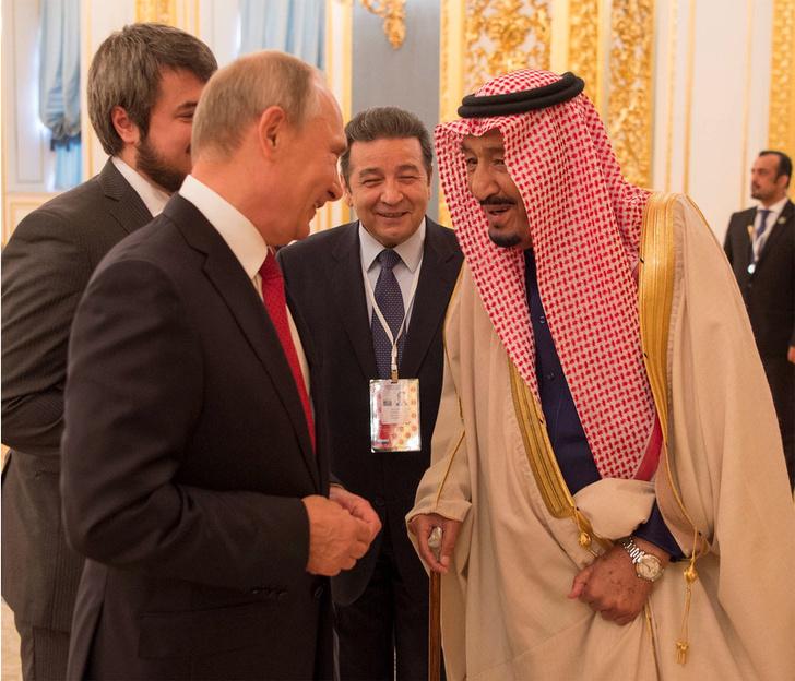 Король Саудовской Аравии и Владимир Путин фото [6]