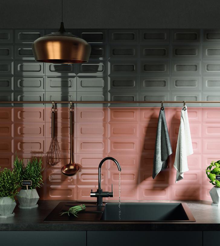 Керамическая плитка на кухне. Модные решения (фото 5)