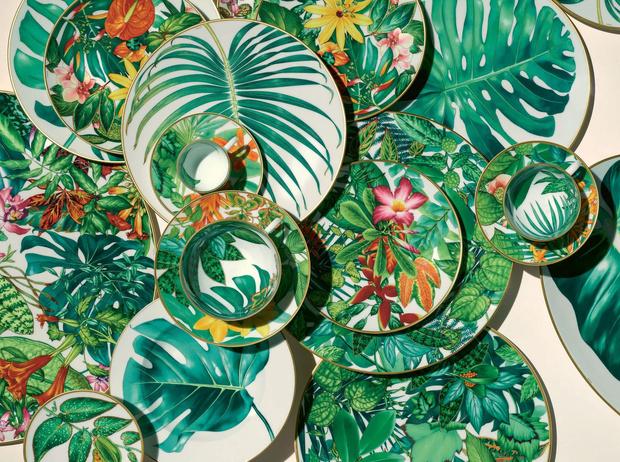 Новая коллекция посуды Hermés Passifolia (фото 5)