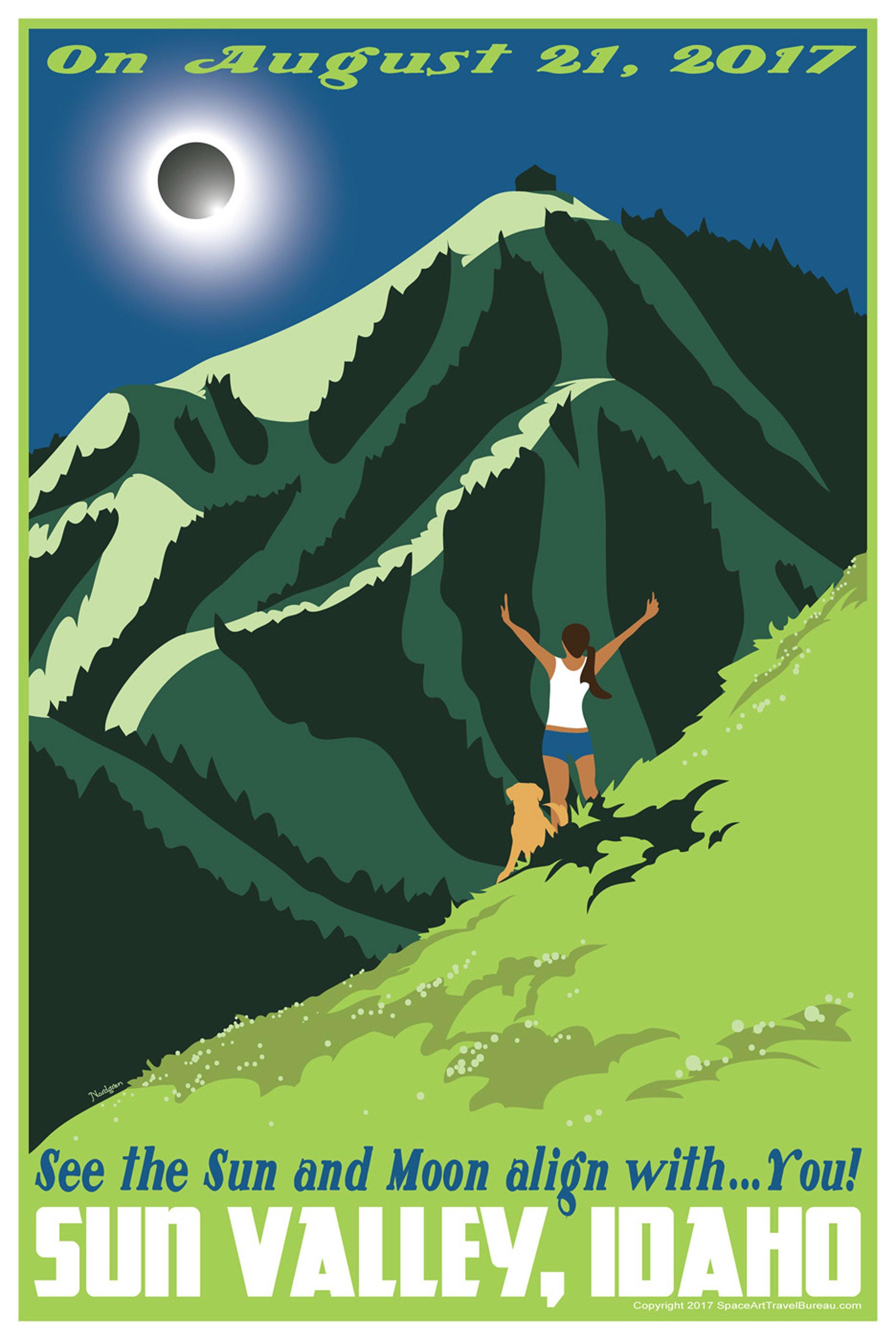 Художник Тайлер Нордгрен создал постеры в честь сегодняшнего солнечного затмения   галерея [1] фото [1]