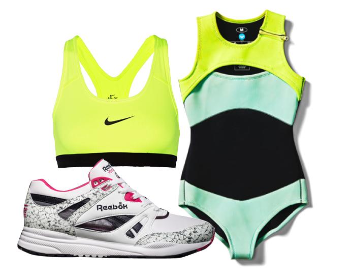 Выбор ELLE: кроссовки Reebok, бра-топ Nike, купальник Roxy