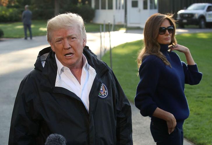 Снова на каблуках: Мелания Трамп приехала к пострадавшим от урагана «Мария» фото [4]