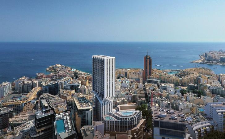 Zaha Hadid Architects: проект башни на Мальте (фото 1)