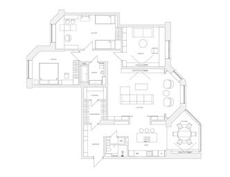 Квартира 150 м²: нескучный проект в скандинавском стиле (фото 13)