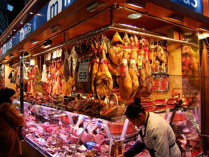 Рынок La Boqueria Барселона