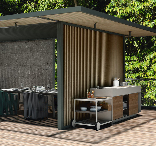 Летняя кухня в саду (фото 6)