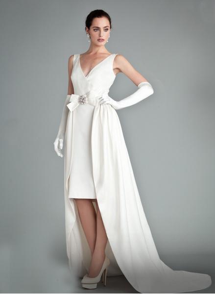 12 коротких платьев для невесты | галерея [1] фото [4]
