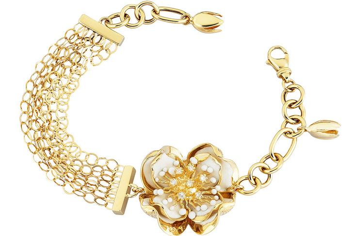 Браслет из коллекции White Dreams, золото, бриллианты, сапфиры, эмаль, Roberto Bravo, салоны Roberto Bravo.