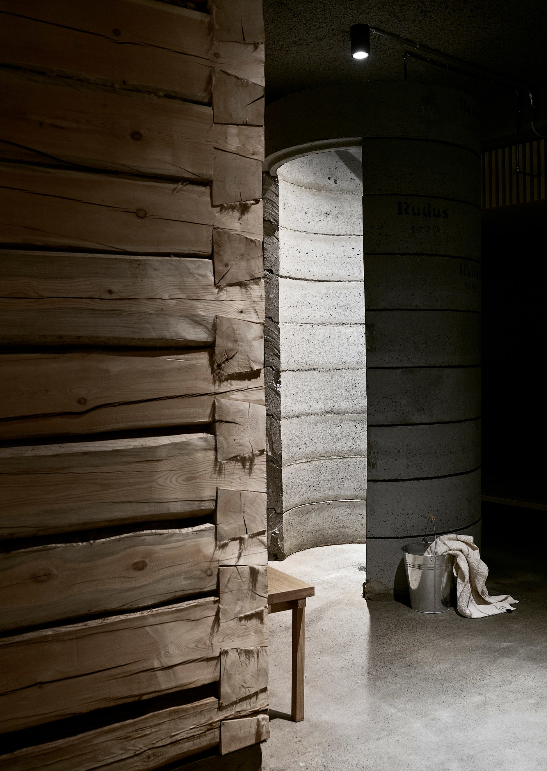 Дуб, бетон и скандинавский дизайн: сауна по проекту Studio Puisto (галерея 4, фото 1)