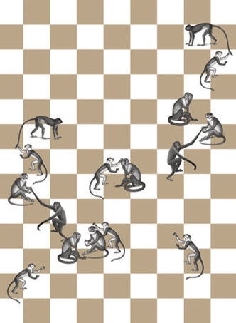 Обои Checkmate, Fornasetti by Cole&Son