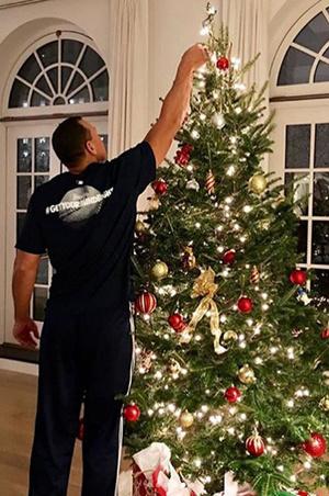 Самые красивые новогодние елки зарубежных звезд (фото 25)