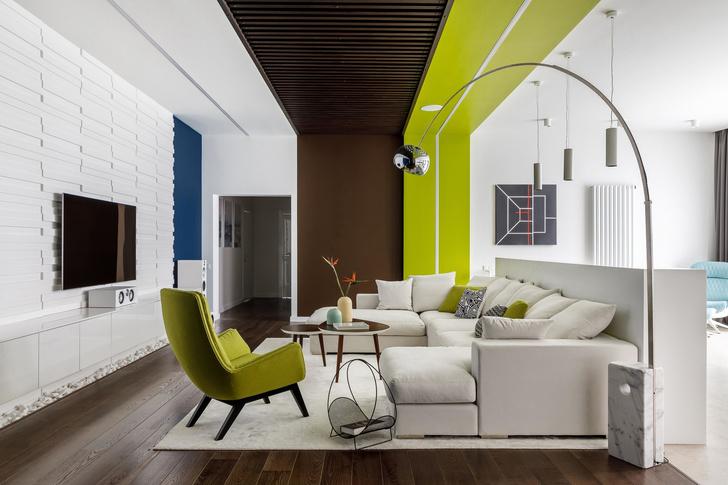 Геометрия и минимализм: квартира 210 м² в Москве (фото 0)