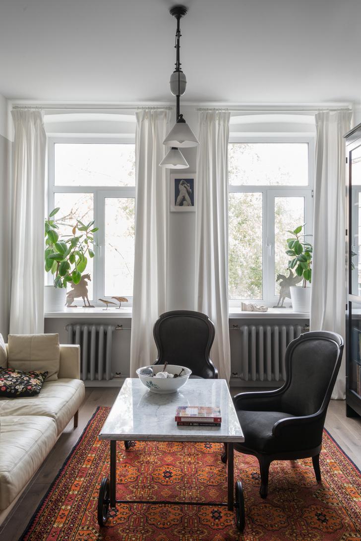 Квартира 80 м² в старомосковском стиле (фото 3)
