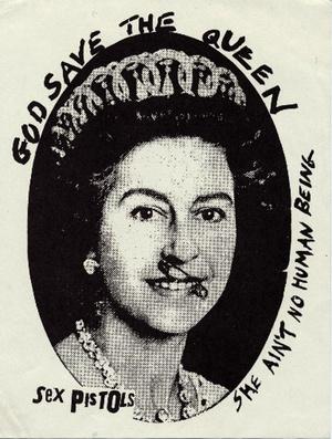 god save the queen принт