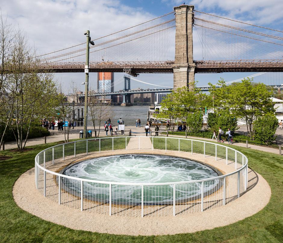 Воронка Аниш Капур в Парке Бруклин-Бридж