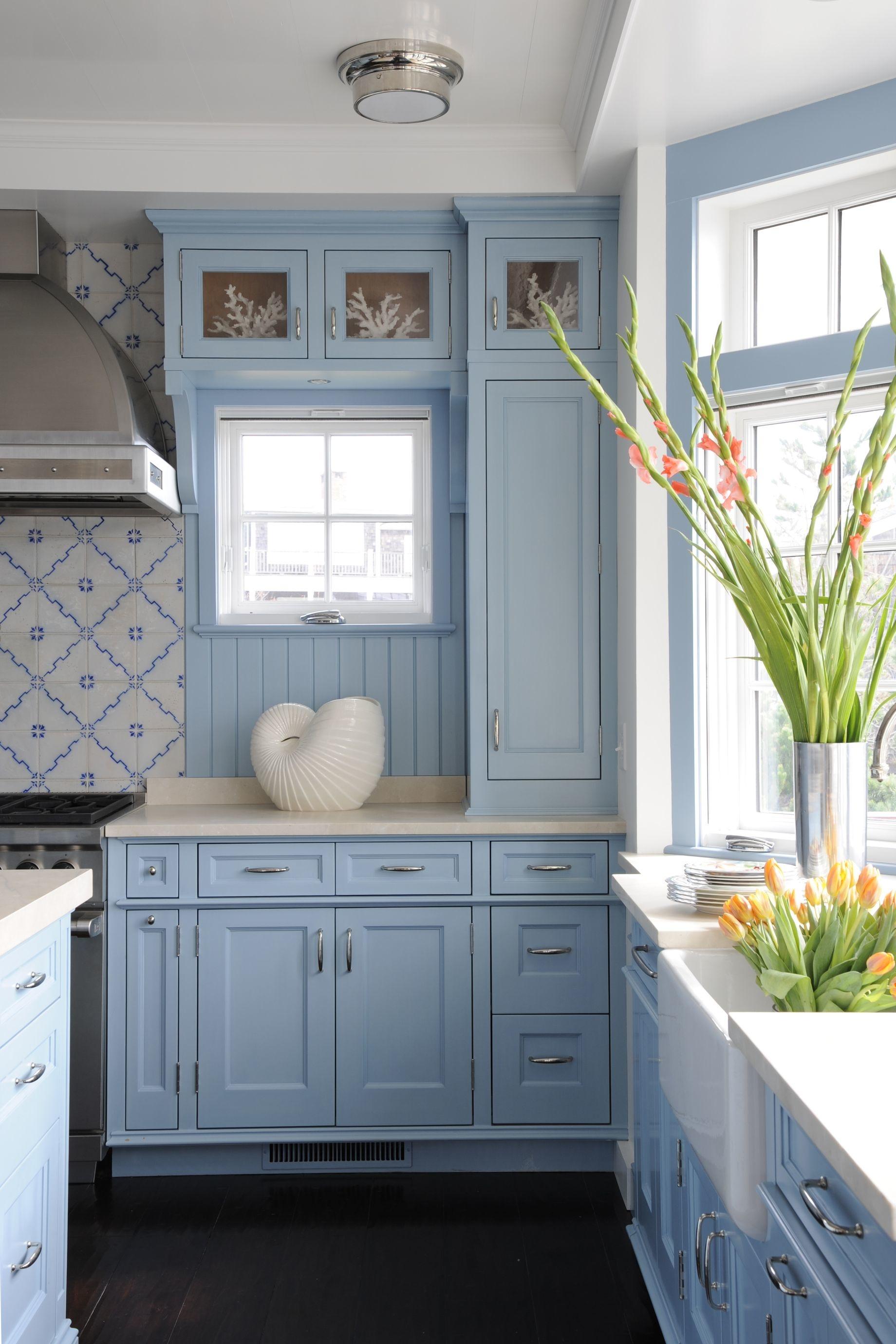 Голубой цвет на кухне: 20 примеров (галерея 1, фото 0)