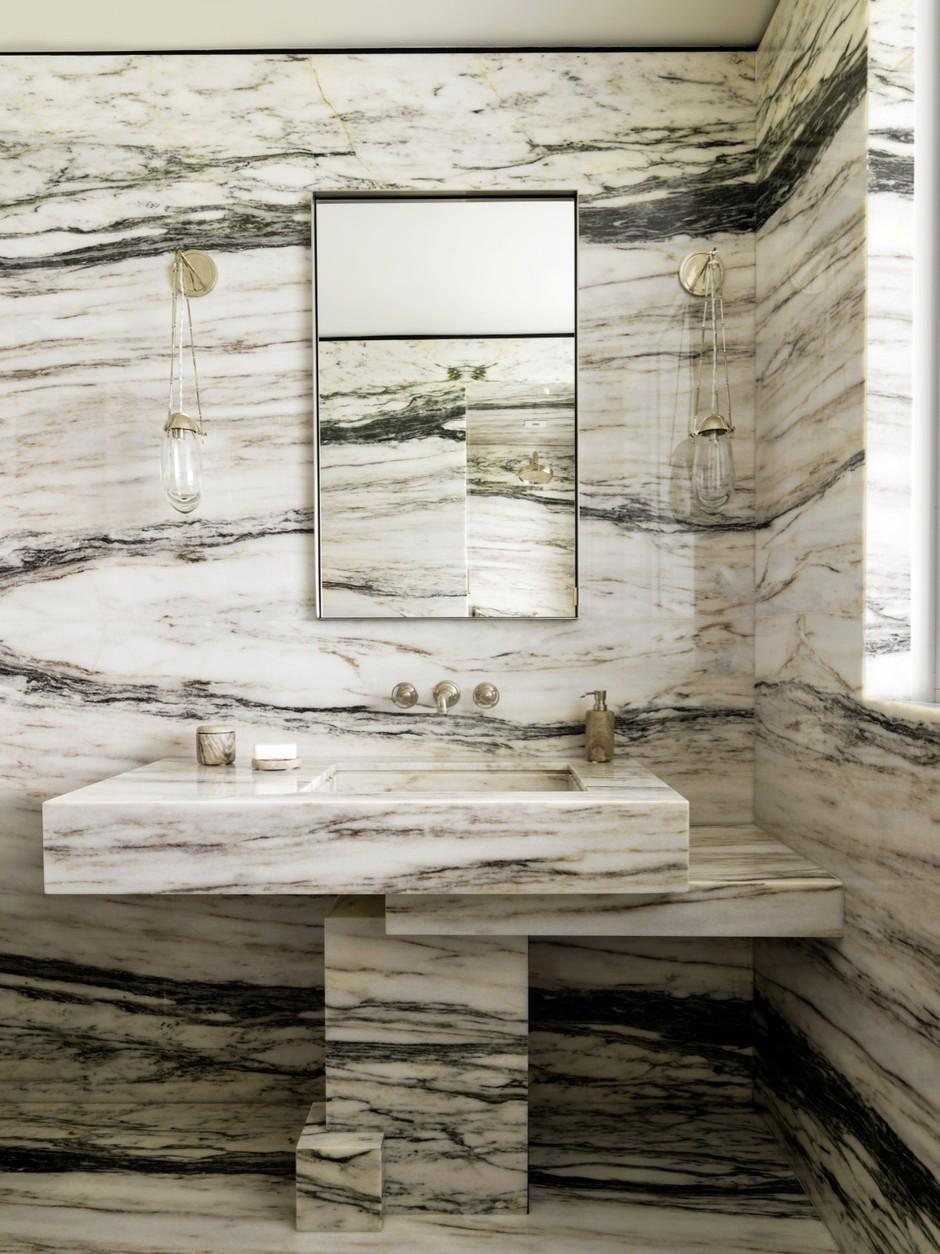 Мрамор в ванной комнате: 25 примеров (галерея 0, фото 4)
