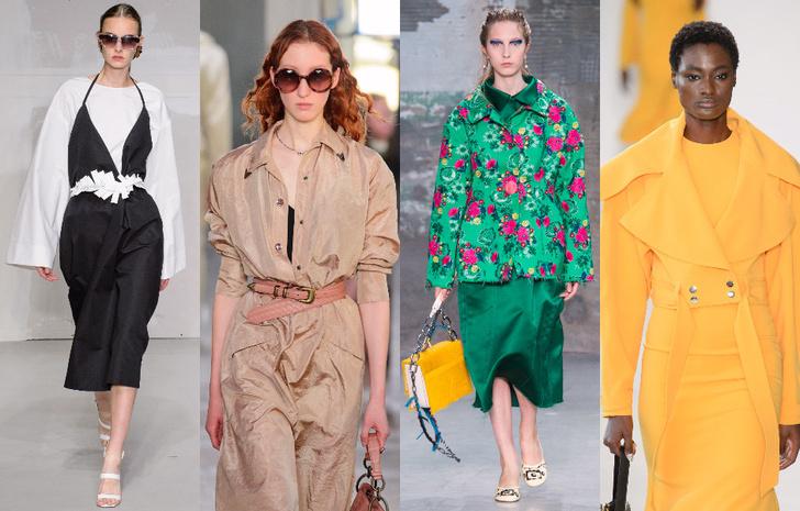 Модные цвета в одежде 2018