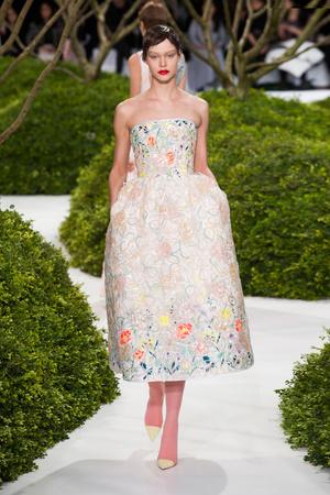 Показ Christian Dior коллекции сезона Весна-лето 2013 года Haute couture - www.elle.ru - Подиум - фото 477472