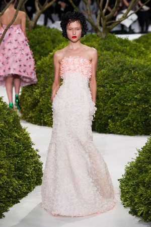 Показ Christian Dior коллекции сезона Весна-лето 2013 года Haute couture - www.elle.ru - Подиум - фото 477470