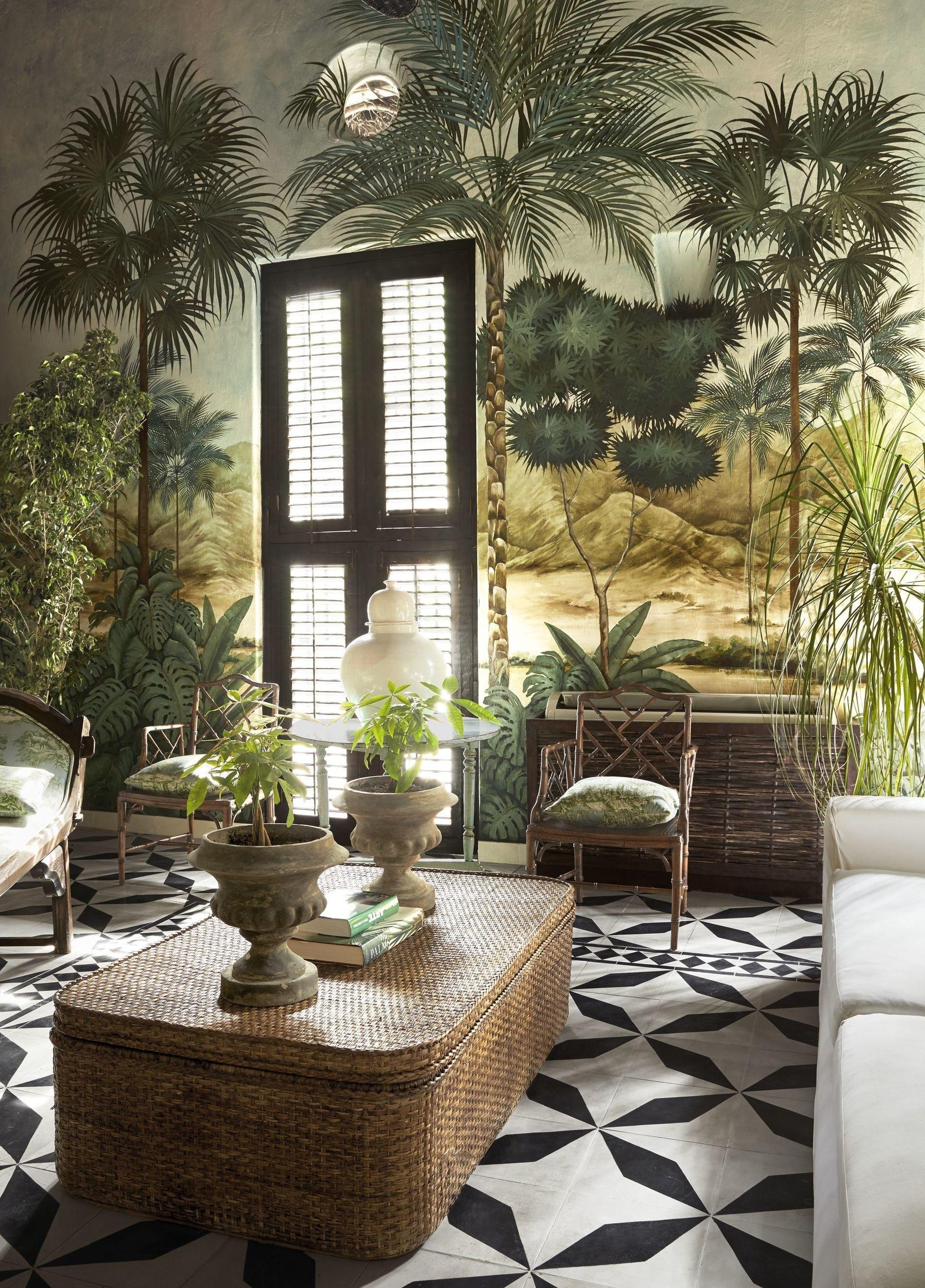 Тропические принты в интерьере: 20 примеров (галерея 0, фото 2)