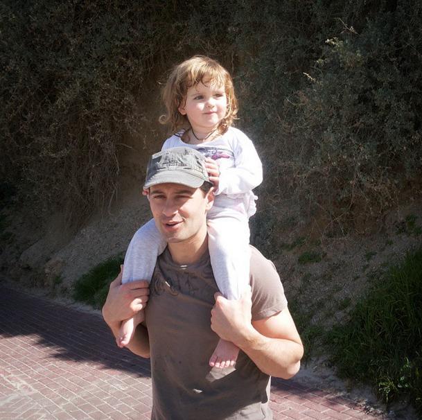 Антон Макарский с дочерью Машей