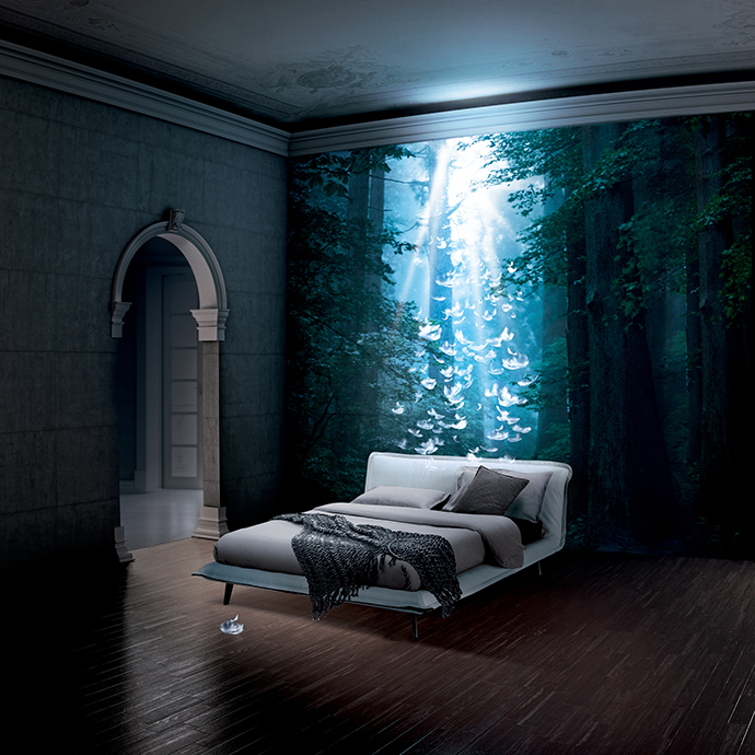 Кровать Piuma от Natuzzi Italia