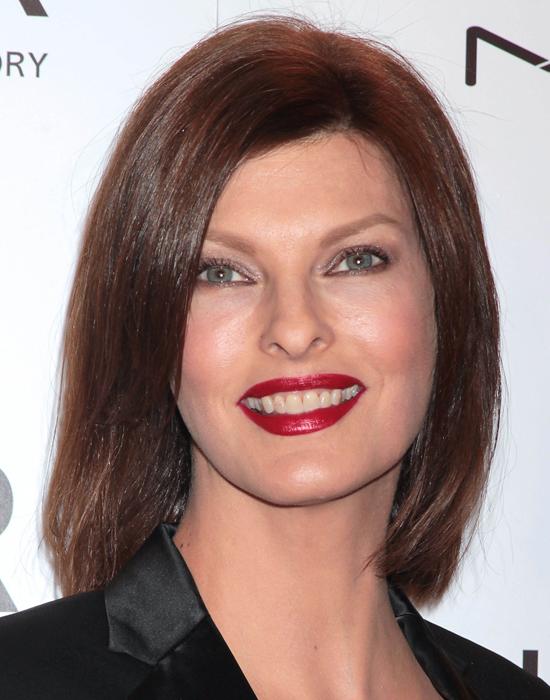8 февраля 2012, благотворительный гала-вечер amfAR, Нью-Йорк Линда Евангелиста