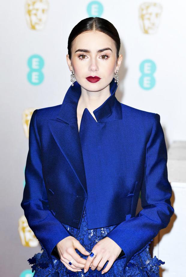 BAFTA-2019: Лили Коллинз в Givenchy (фото 1)