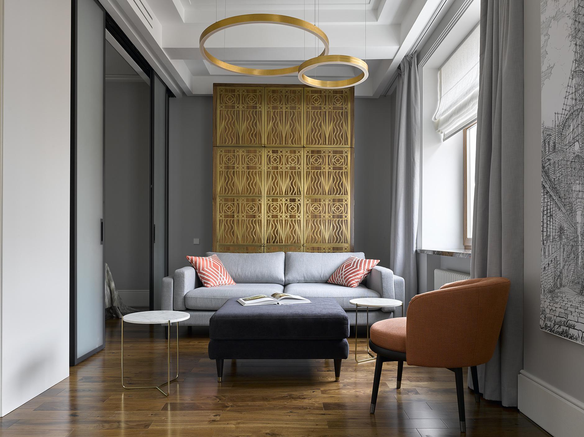 Гостиная в стиле ар-деко: примеров (галерея 0, фото 0)