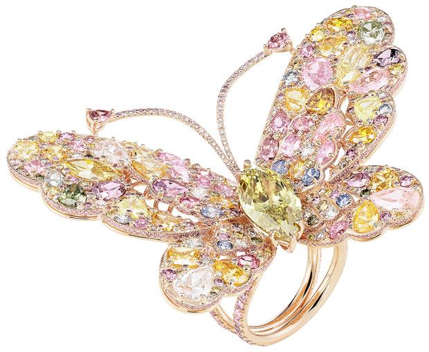 Кольцо Red Carpet, розовое золото, бриллианты, Chopard