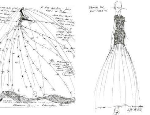 Платья как у дизайнера рисунки