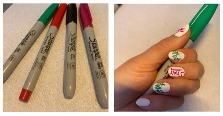 Как сделать маникюр с помощью маркеров (фото 6)