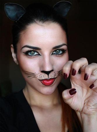 Макияж девушки-кошки