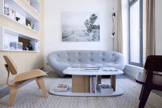 Минималистская квартира 47  м²  в Париже (фото 0)