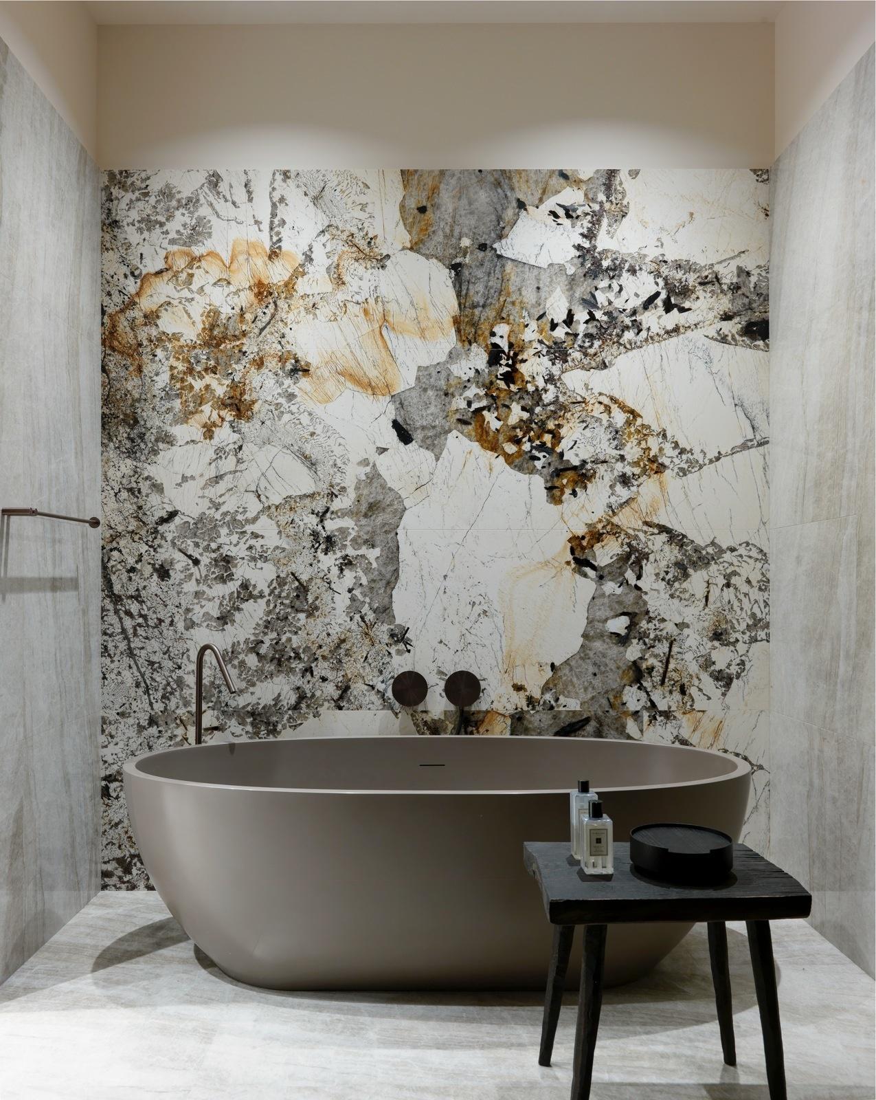 Мрамор в ванной комнате: 30+ примеров (галерея 1, фото 3)