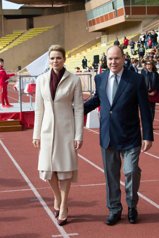 Князь Альбер и княгиня Шарлен на турнире имени святой Девоты 2017