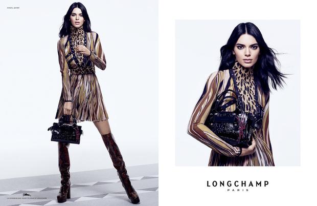 Кендалл Дженнер с главной сумкой сезона в новой рекламной кампании Longchamp (фото 4)
