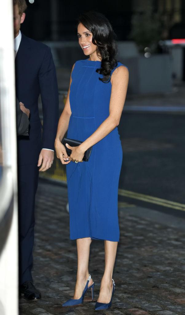 Меган Маркл в ослепительном синем платье Jason Wu (фото 3)