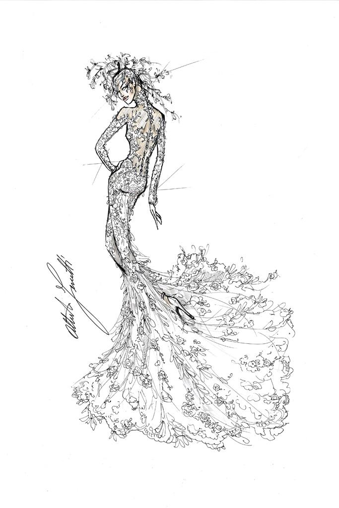 Свадебное платье Леди Гага от Alberta Ferretti