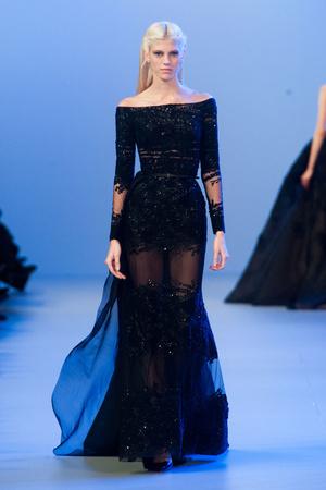 Показ Elie Saab коллекции сезона Весна-лето 2014 года Haute couture - www.elle.ru - Подиум - фото 575152