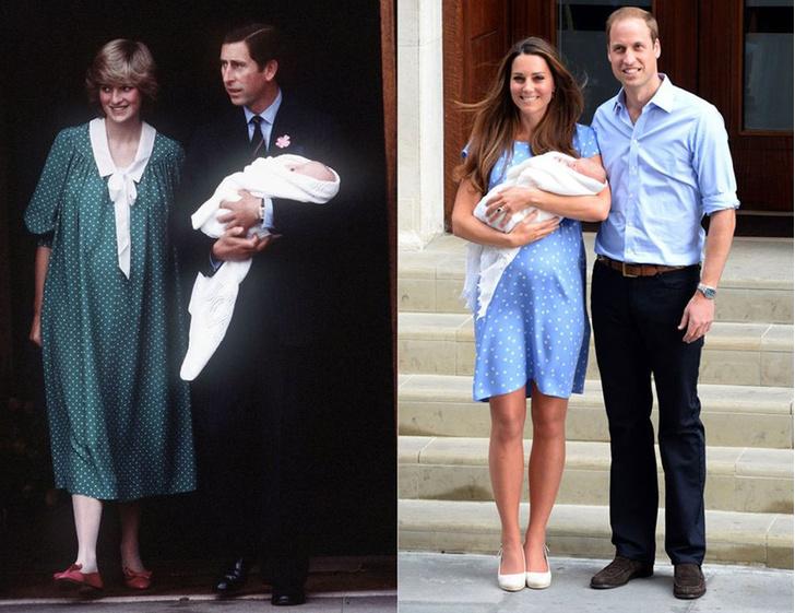 Принцесса Диана и принц Чарльз; Кейт Миддлтон и принц Уильям