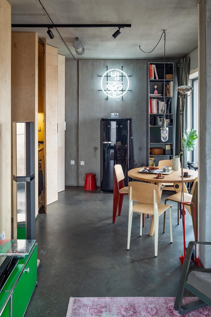 Бетонная квартира 55 м² архитектора Пшемо Лукашика в Варшаве (фото 8)