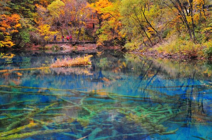 Озеро Пять цветков, Китай