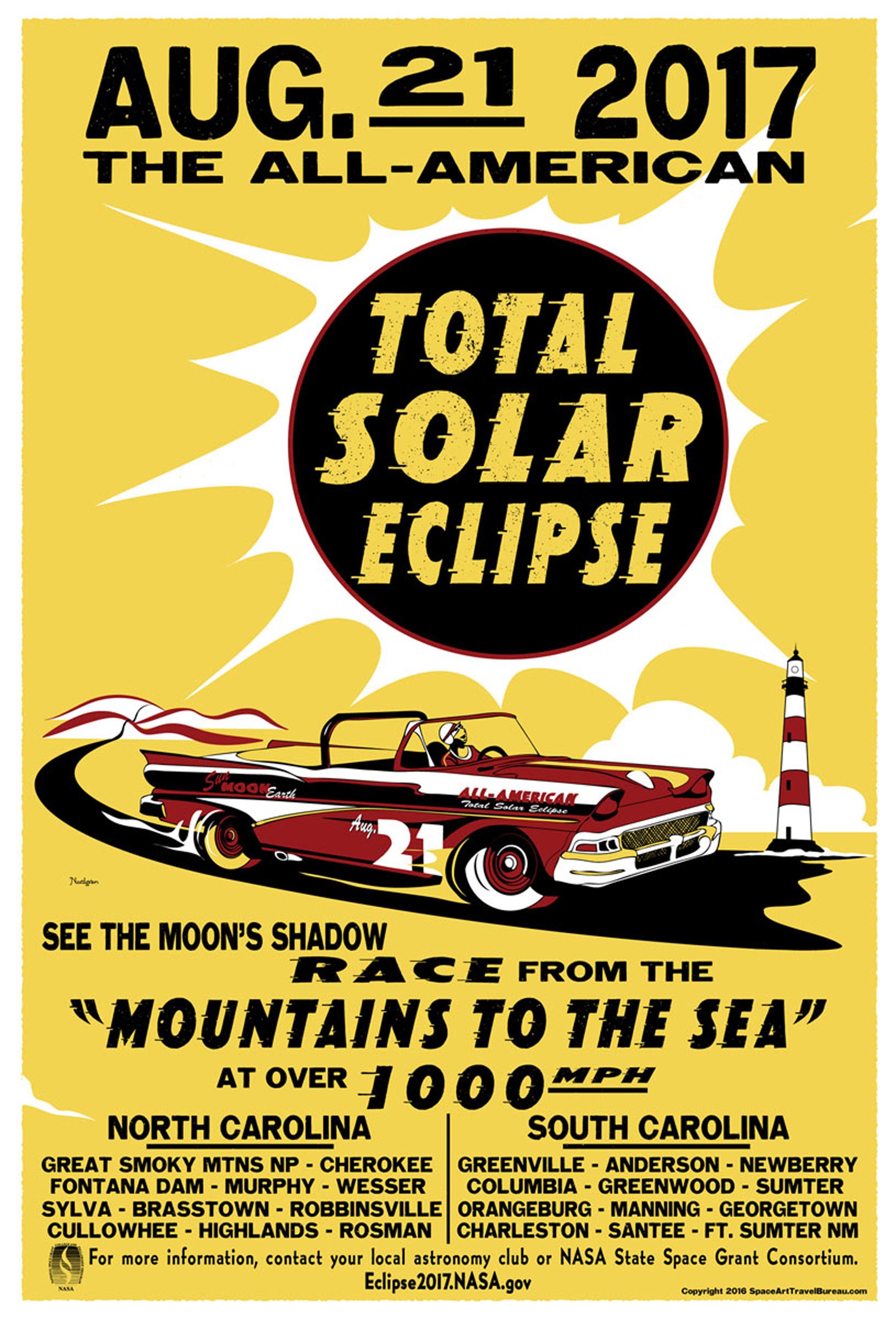 Художник Тайлер Нордгрен создал постеры в честь сегодняшнего солнечного затмения   галерея [1] фото [5]