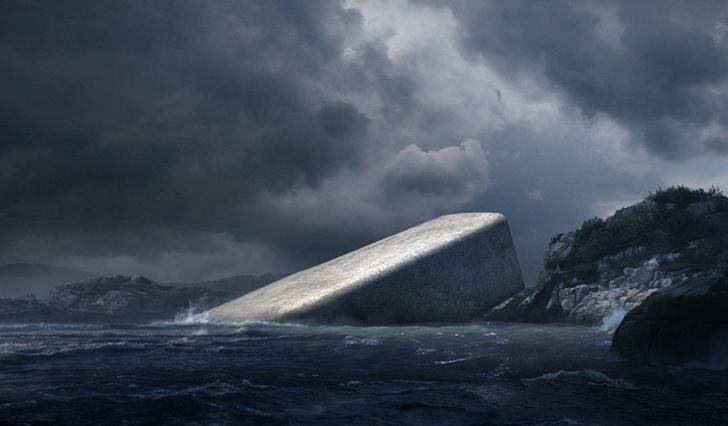 Подводный ресторан в Норвегии фото [4]
