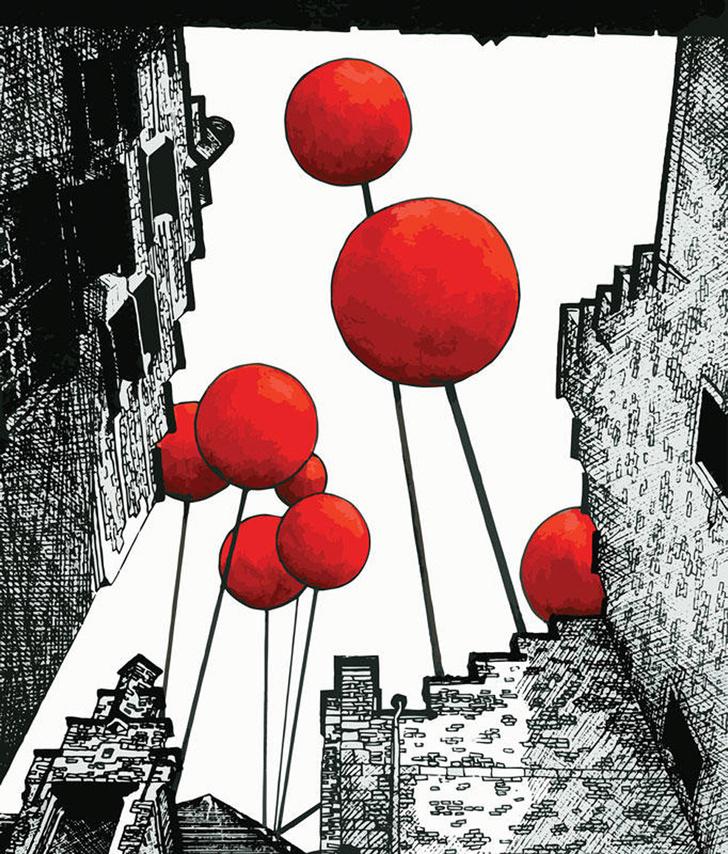 Фотообои Baloon City, Mr. Perswall