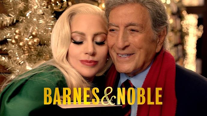 Леди Гага и Тони Беннетт снялись в рождественской рекламе Barnes & Noble